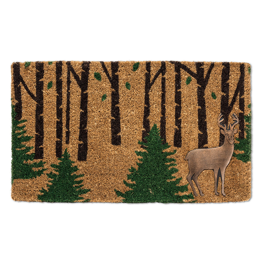 Deer with Trees Christmas Doormat