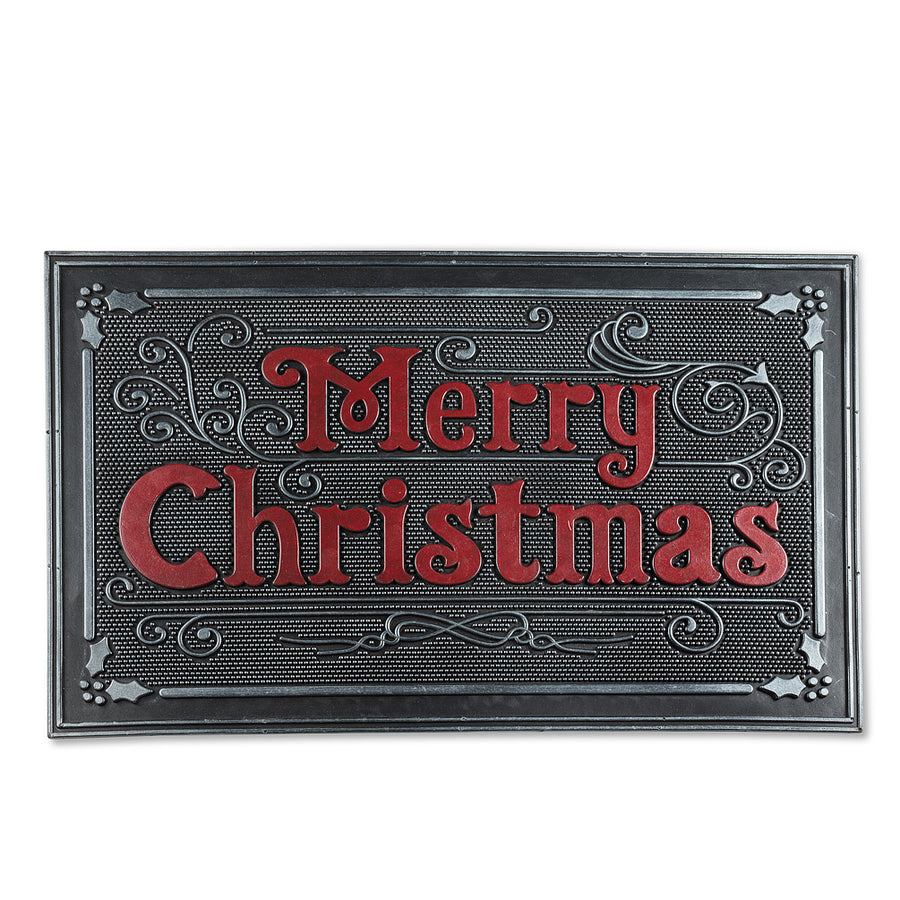 Merry Christmas Rubber Doormat