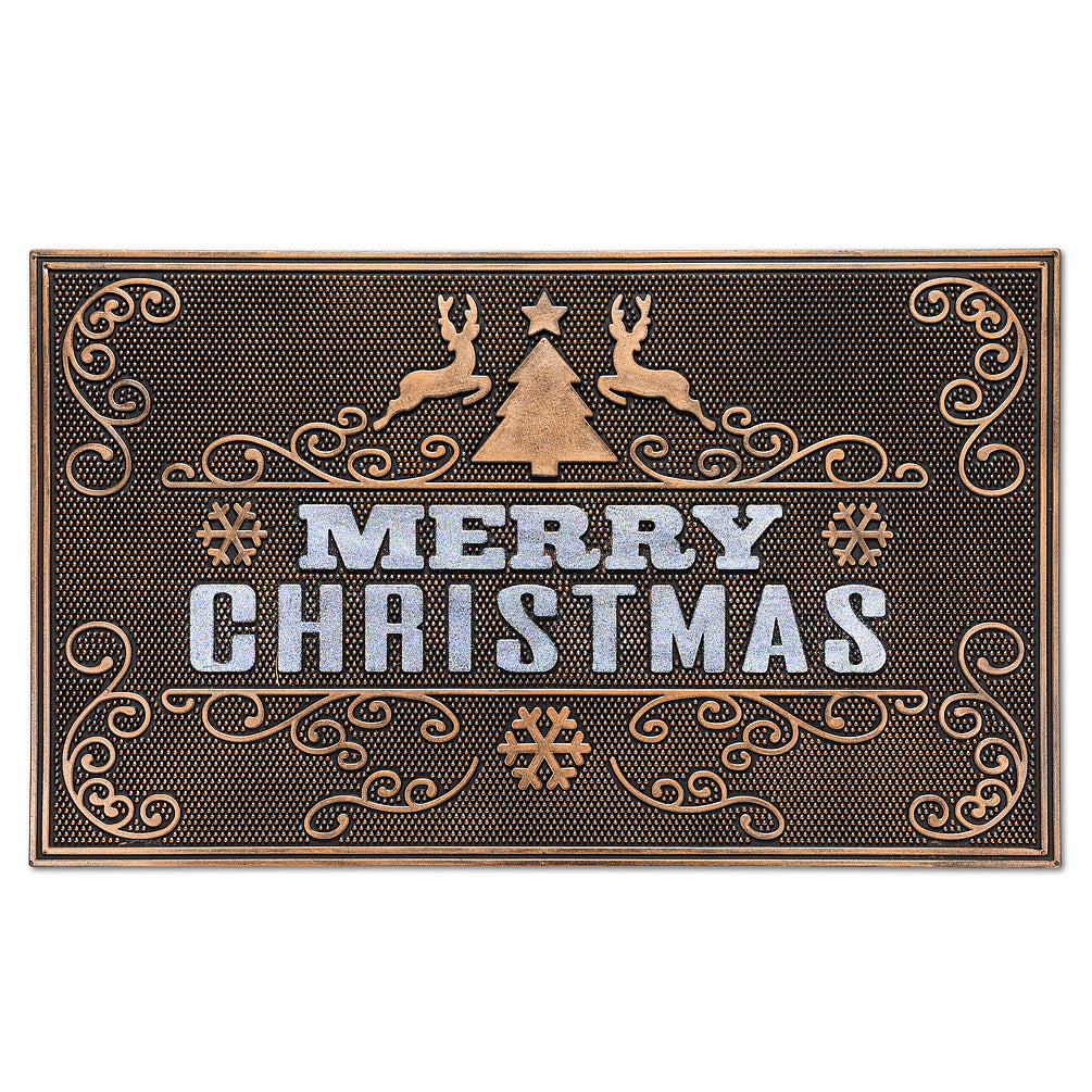 """Merry Christmas"" Rubber Doormat 