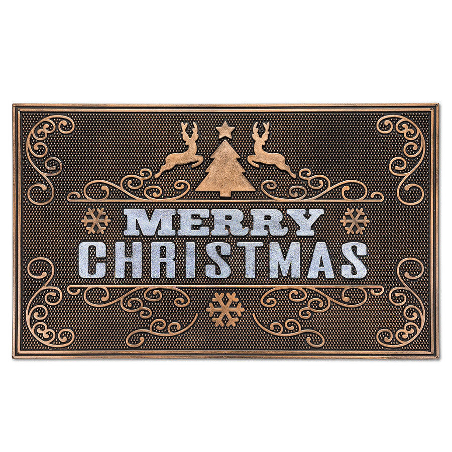 """Merry Christmas"" Rubber Doormat"