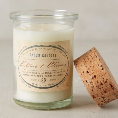 Skeem Field Jar Candle - Citrus & Olive, SD-Skeem Design - The Tate Group, Putti Fine Furnishings