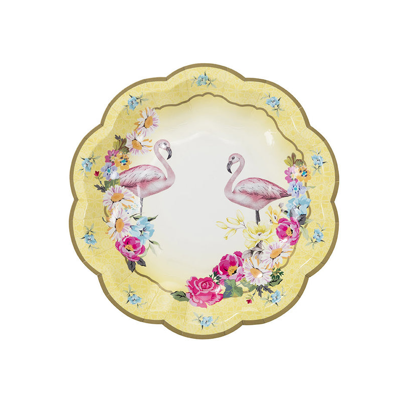 """Truly Flamingo"" Paper Plates"