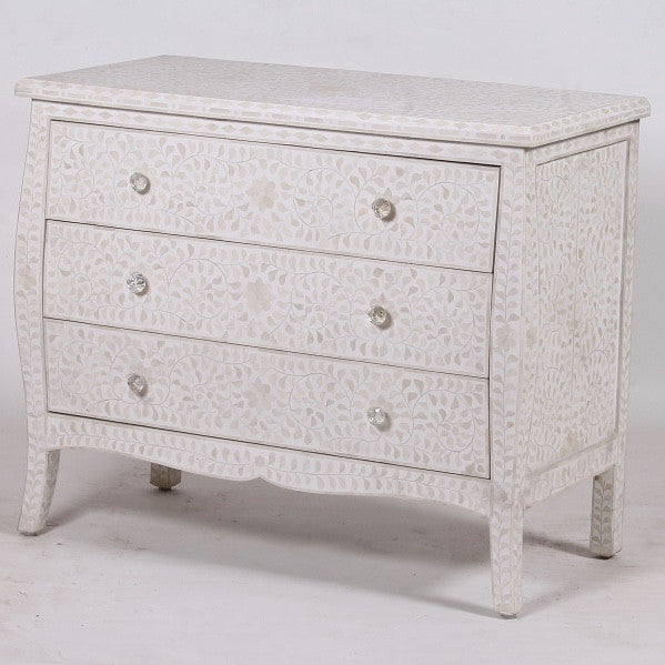 Mother of Pearl Chest of Drawers - White, BI-Bethel International, Putti Fine Furnishings
