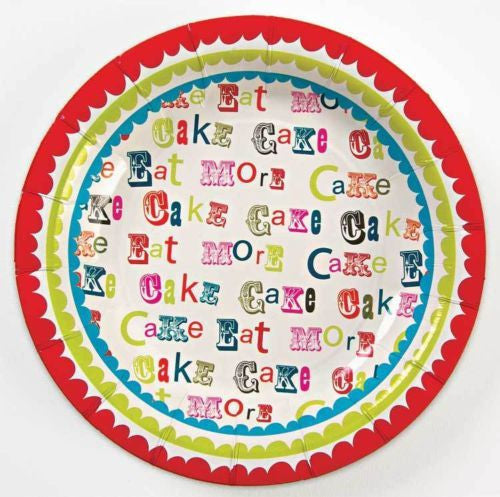 """Eat More"" Paper Plates, MM-Meri Meri UK, Putti Fine Furnishings"