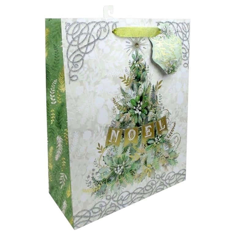 Punch Studio Winter Greens Gift Bag - Large | Putti Christmas Canada