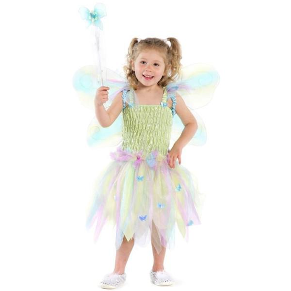 Butterfly Fairy Dress with Wings and Wand