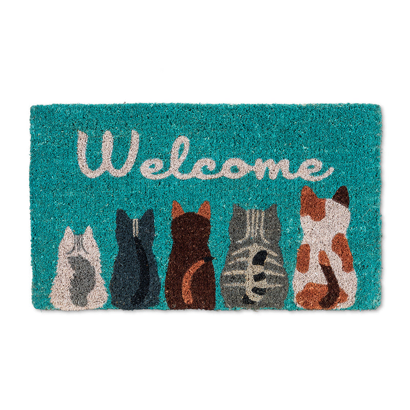 Cat Welcome Doormat, AC-Abbott Collection, Putti Fine Furnishings