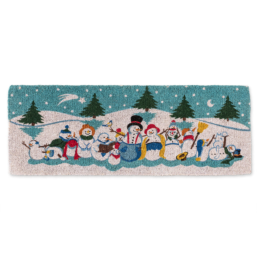 """Snow People"" Christmas Double Doormat"