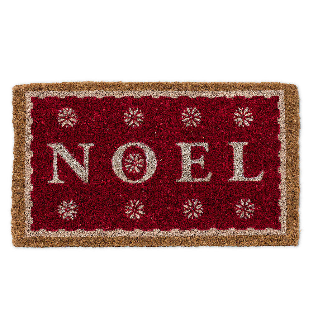 """Noel"" Red Doormat-Christmas-AC-Abbott Collection-Putti Fine Furnishings"