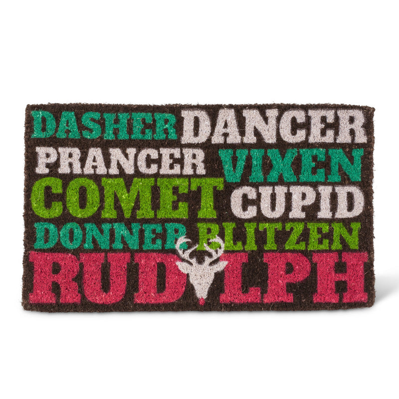 """Reindeer Names"" Christmas Doormat -  Carpets and Rugs - AC-Abbott Collection - Putti Fine Furnishings Toronto Canada"