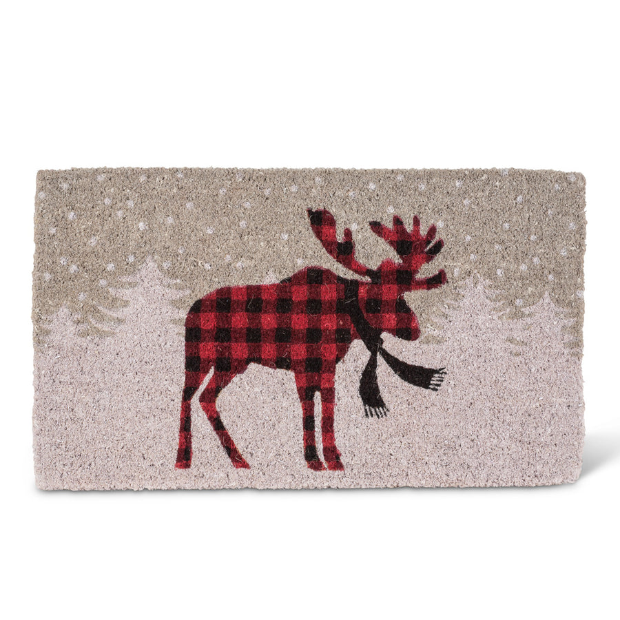 """Standing Moose"" Christmas Doormat"