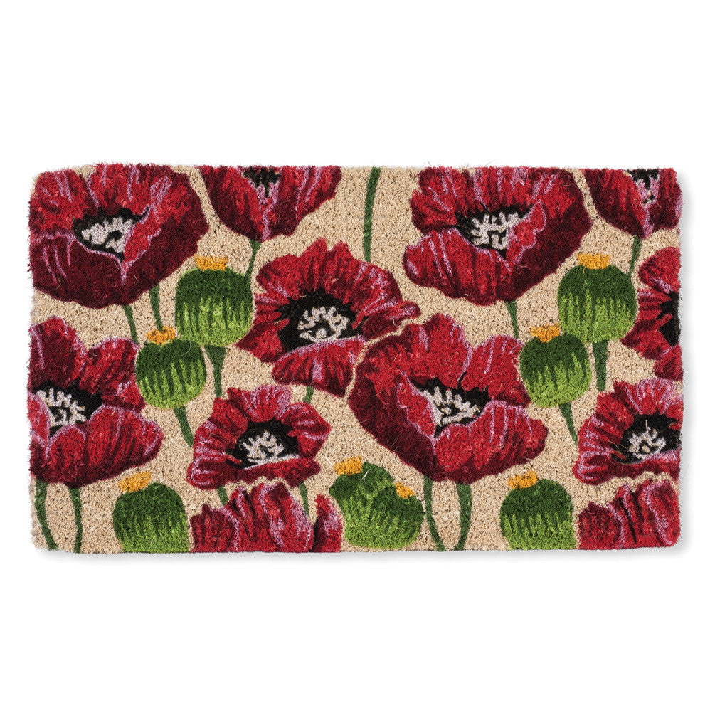 All Over Poppy Doormat, AC-Abbott Collection, Putti Fine Furnishings