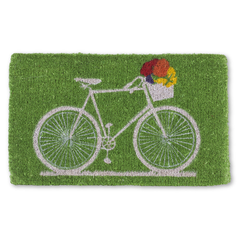 Bicycle with Flowers Doormat, AC-Abbott Collection, Putti Fine Furnishings