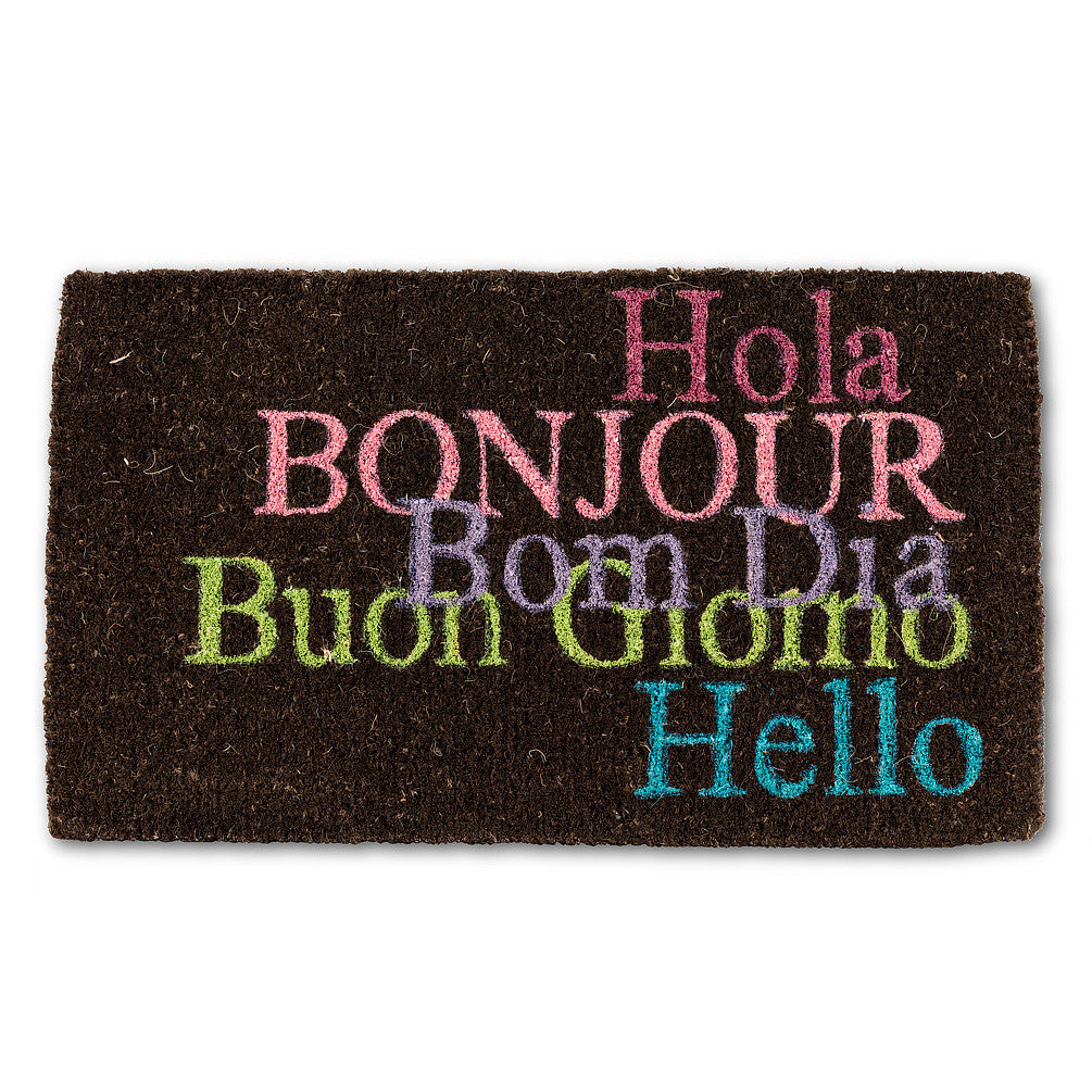International Hello Doormat-Carpets and Rugs-AC-Abbott Collection-Putti Fine Furnishings