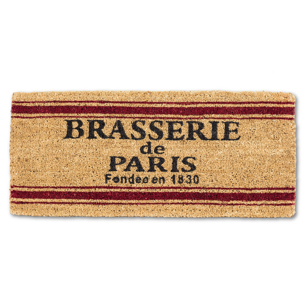 """Brasserie de Paris"" Doormat-Carpets and Rugs-AC-Abbott Collection-Putti Fine Furnishings"
