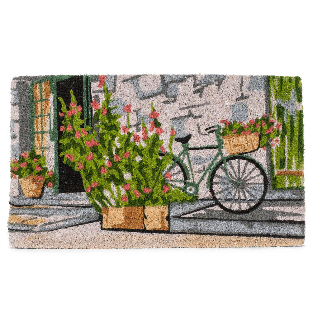 Bicycle on Stoop Doormat-Carpets and Rugs-AC-Abbott Collection-Putti Fine Furnishings