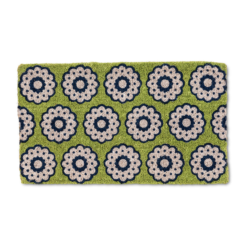 Spirograph Green Doormat, AC-Abbott Collection, Putti Fine Furnishings