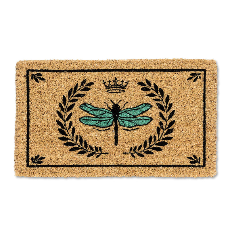 Dragonfly in Crest Doormat, AC-Abbott Collection, Putti Fine Furnishings