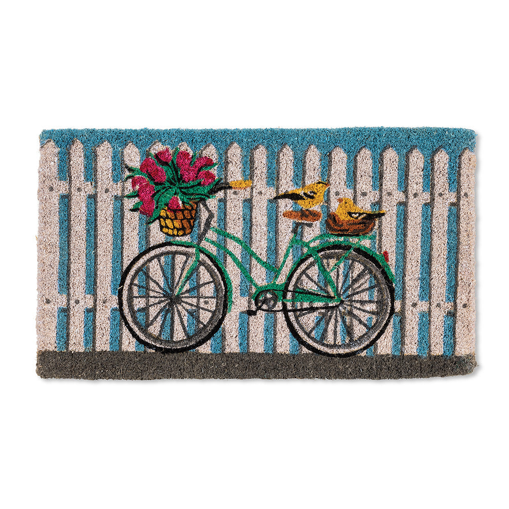 Bicycle on Fence Doormat