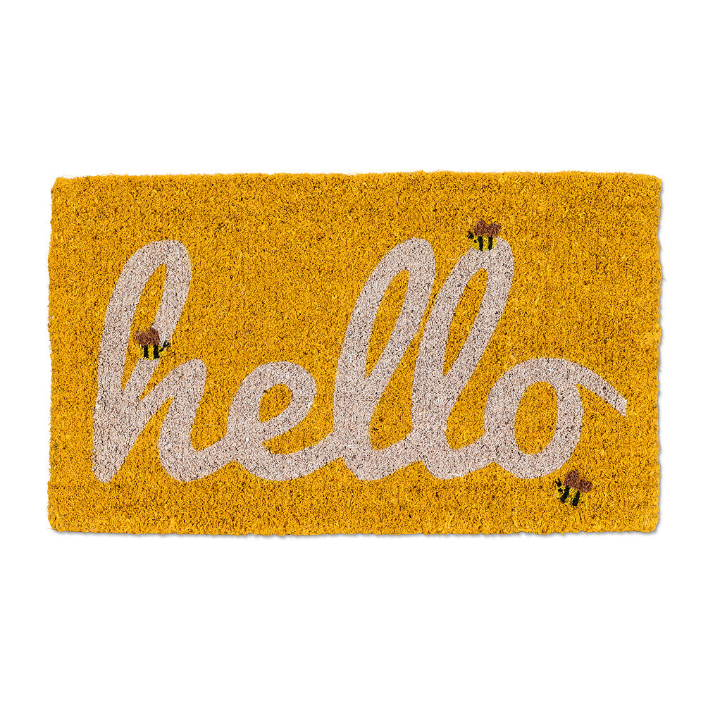 Three Bee U201cHellou201d Doormat, AC Abbott Collection, Putti Fine Furnishings