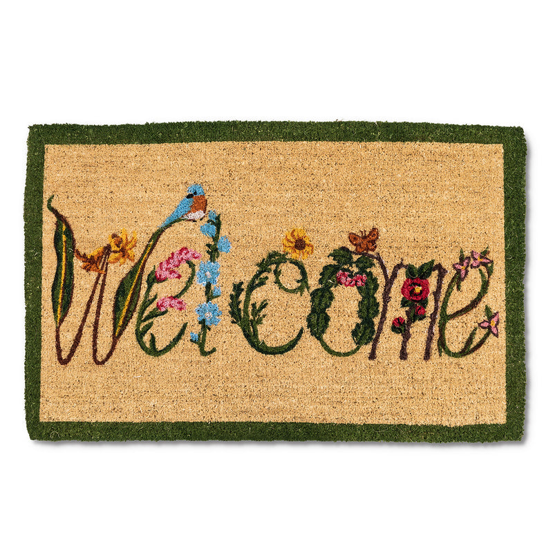 "Garden ""Welcome"" Doormat - Extra Large - Putti Fine Furnishings Canada"