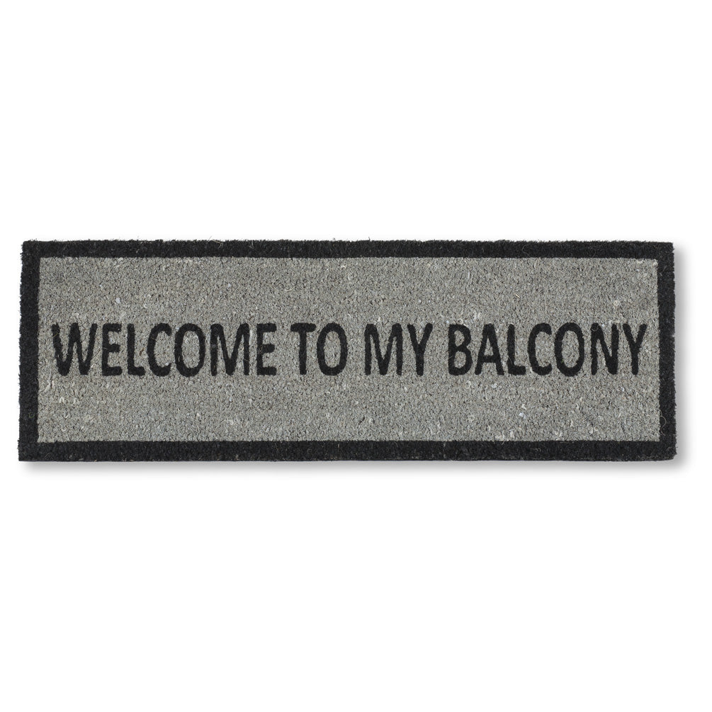 """Welcome to my Balcony"" Small Doormat, AC-Abbott Collection, Putti Fine Furnishings"