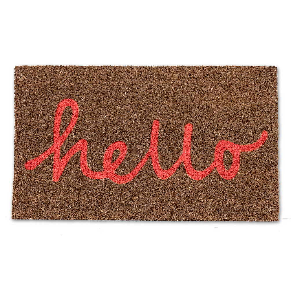 Hello Doormat - Coral, AC-Abbott Collection, Putti Fine Furnishings