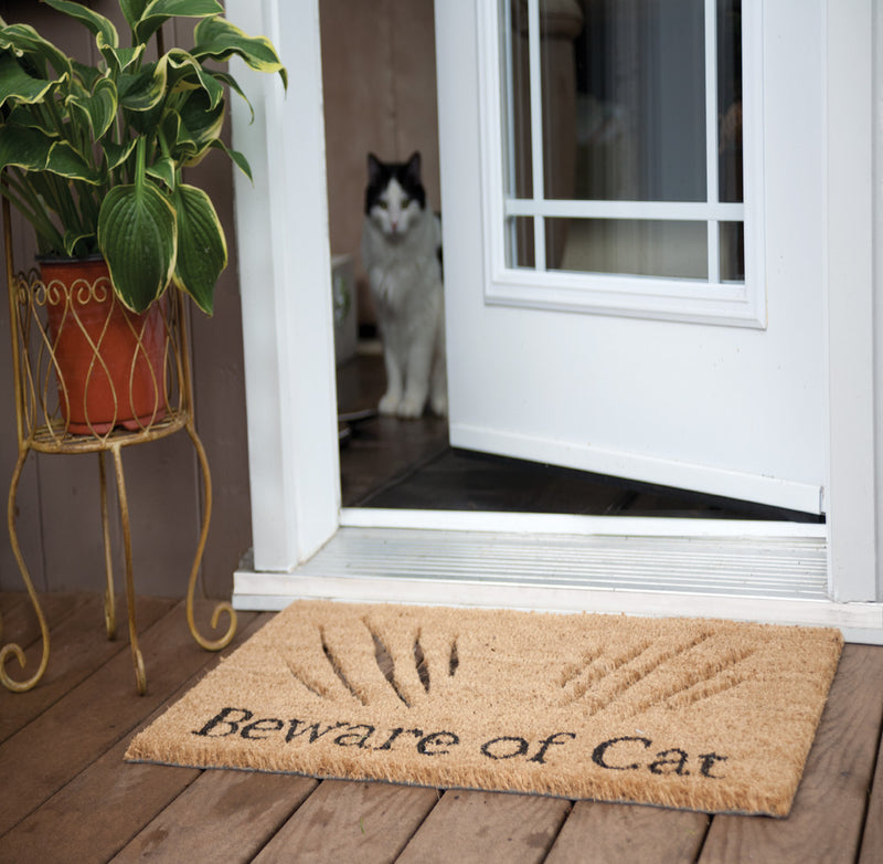 Beware of Cat Doormat - Putti Fine Furnishings Toronto Canada