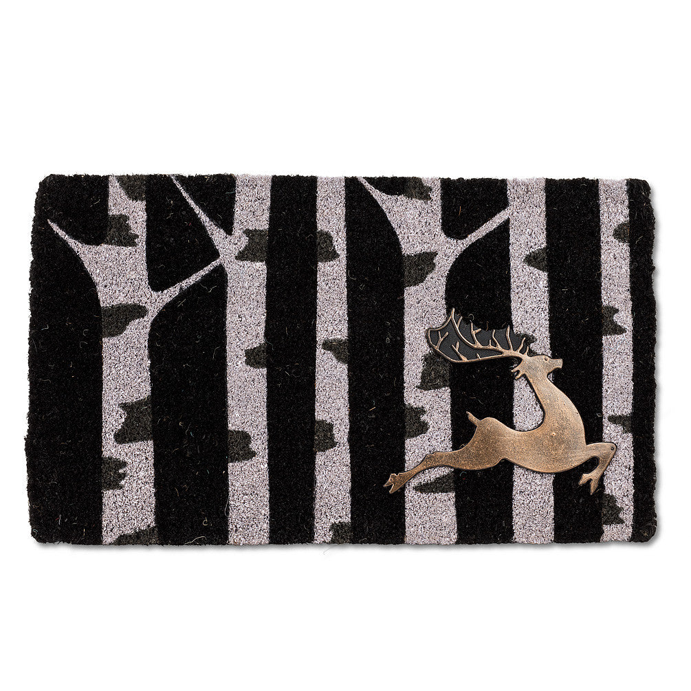"""Birch with Reindeer"" Doormat-Christmas-AC-Abbott Collection-Putti Fine Furnishings"
