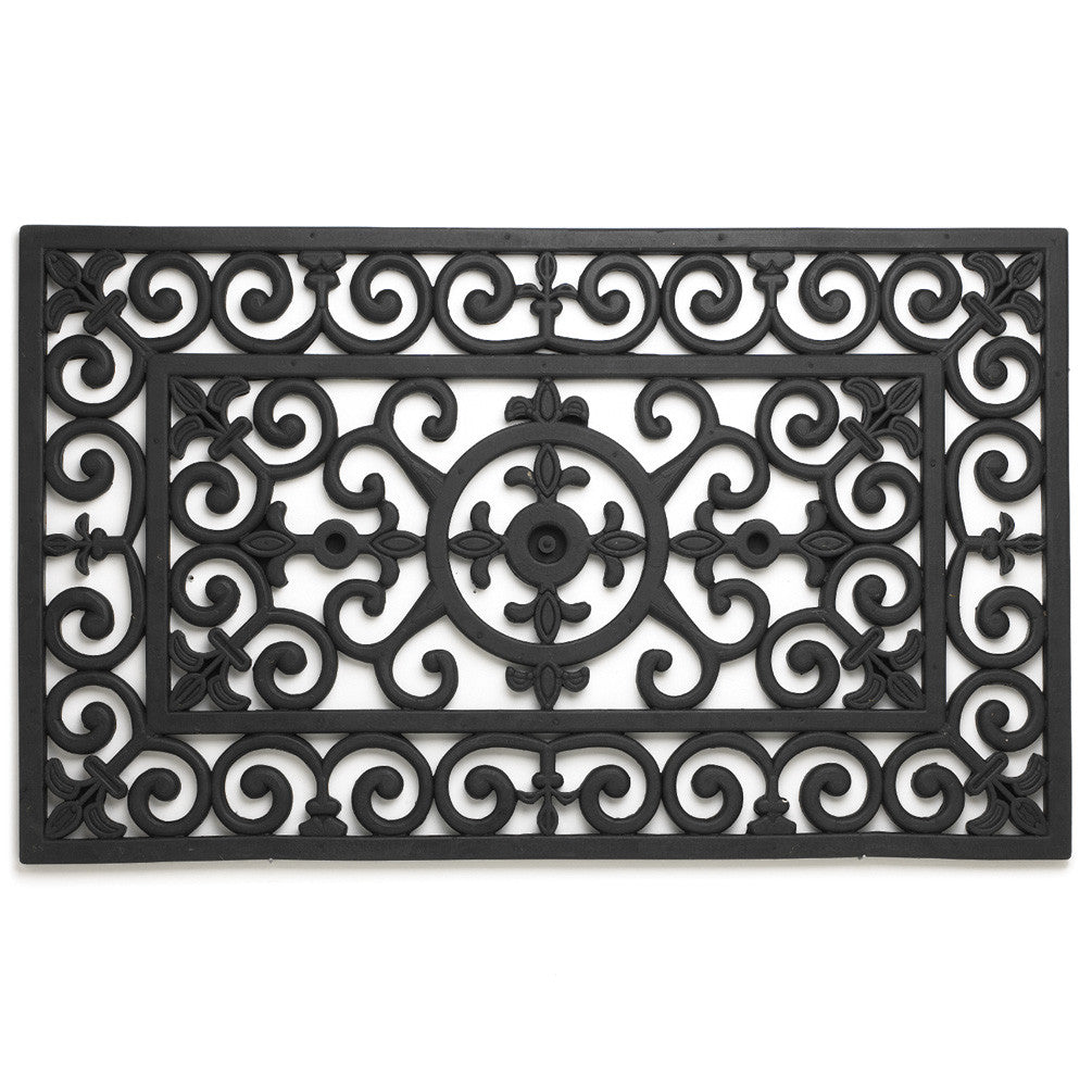 Fleur De Lys Doormat-Carpets and Rugs-AC-Abbott Collection-Putti Fine Furnishings