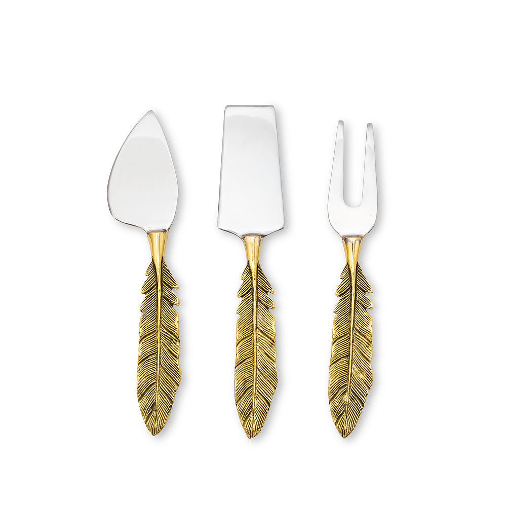 Feather Cheese Tools. Set of 3 | Putti Fine Furnishings