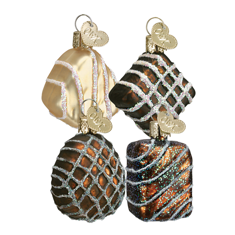 Old World Christmas Assorted Chocolates Glass Ornament, OWC-Old World Christmas, Putti Fine Furnishings