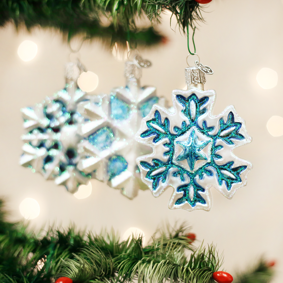Old World Christmas Snowflake Glass Ornament