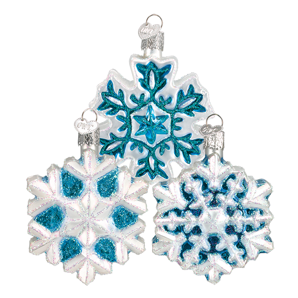 Old World Christmas Snowflake Glass Ornament | Putti Christmas