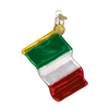 Old World Christmas Italian Flag Glass Ornament, OWC-Old World Christmas, Putti Fine Furnishings