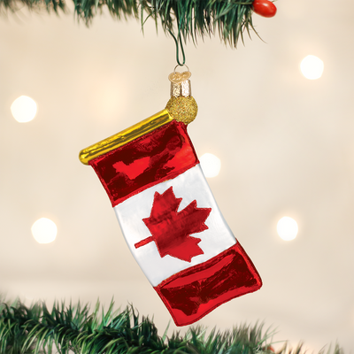 Old World Christmas Canadian Flag Christmas Ornament | Putti Canada
