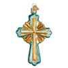 Old World Christmas Divine Cross Glass Christmas Ornament | Putti Canada