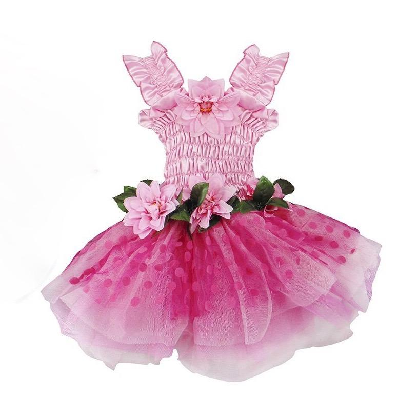 Fairy Blooms Dress Pink Wings & Headband | Le Petite Putti