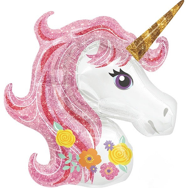 "Giant ""Sparkle Unicorn"" Mylar Balloon, SE-Surprize Enterprize, Putti Fine Furnishings"