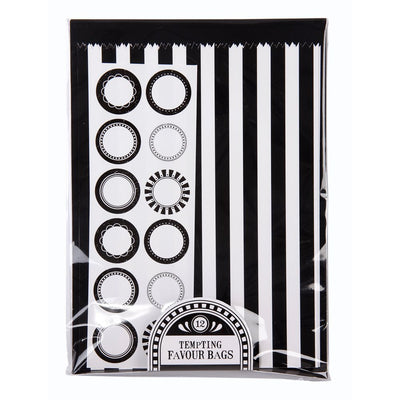 Black & White Stripe Treat Bags -  Party Supplies - Talking Tables - Putti Fine Furnishings Toronto Canada - 2