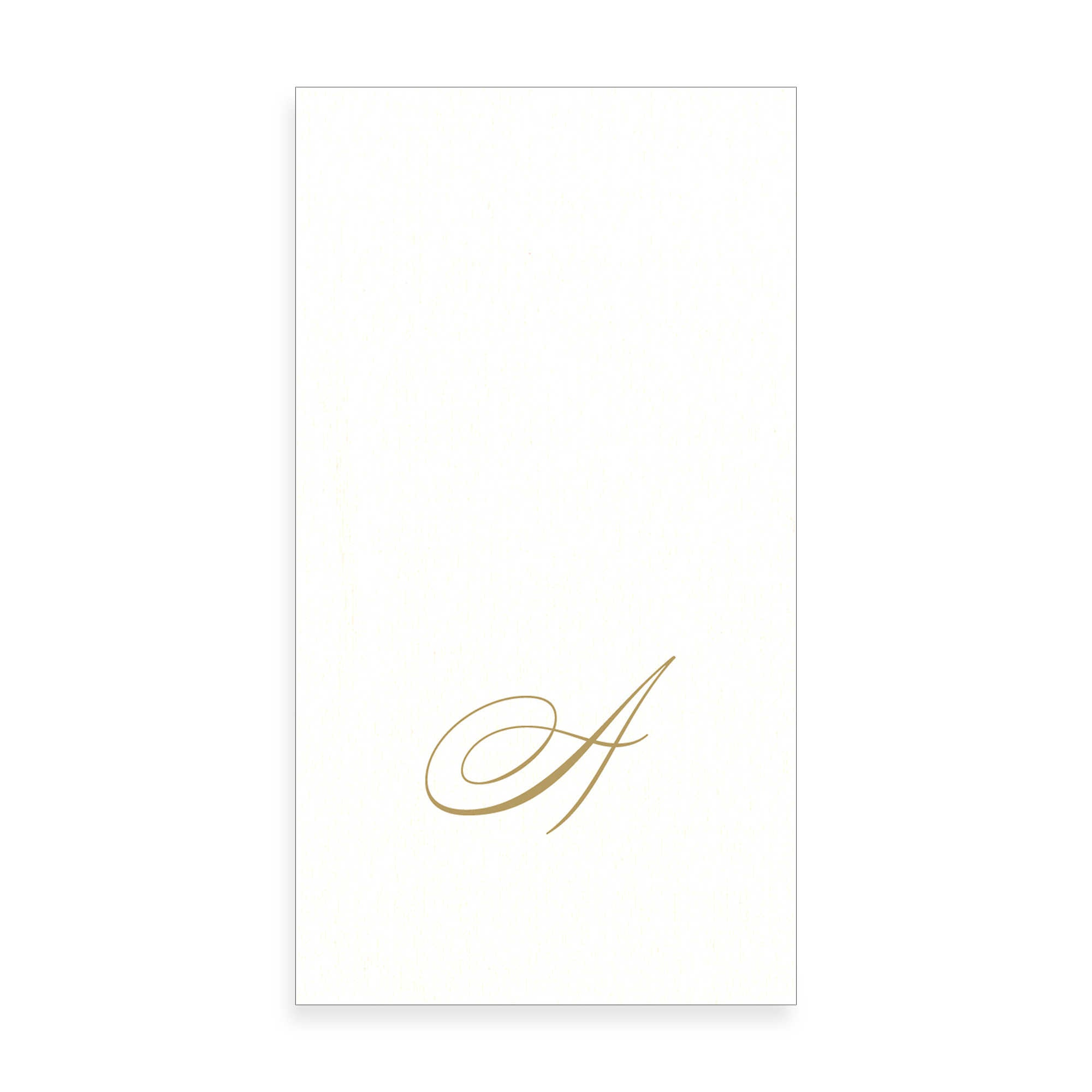 Gold Monogram Paper Guest Towel - Letter A, CI-Caspari, Putti Fine Furnishings