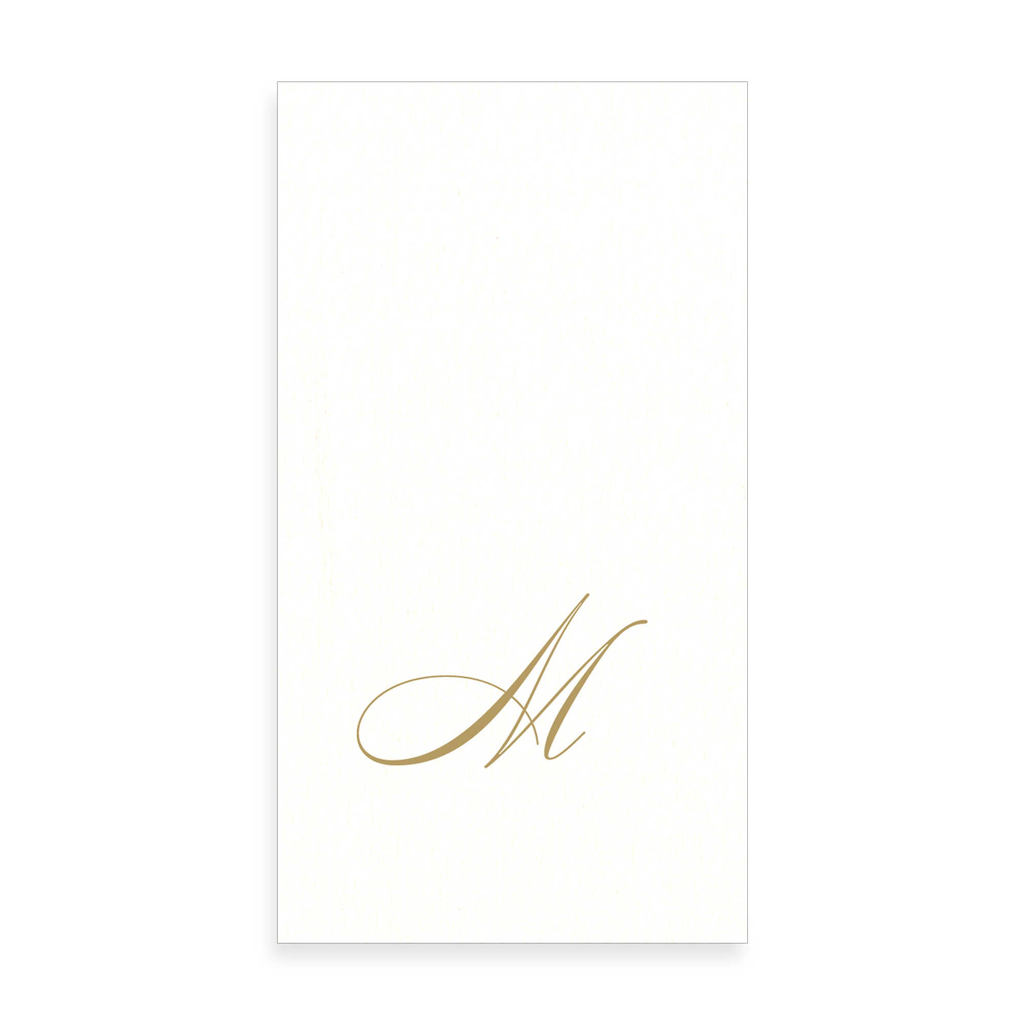 Gold Monogram Paper Guest Towel - Letter M, CI-Caspari, Putti Fine Furnishings
