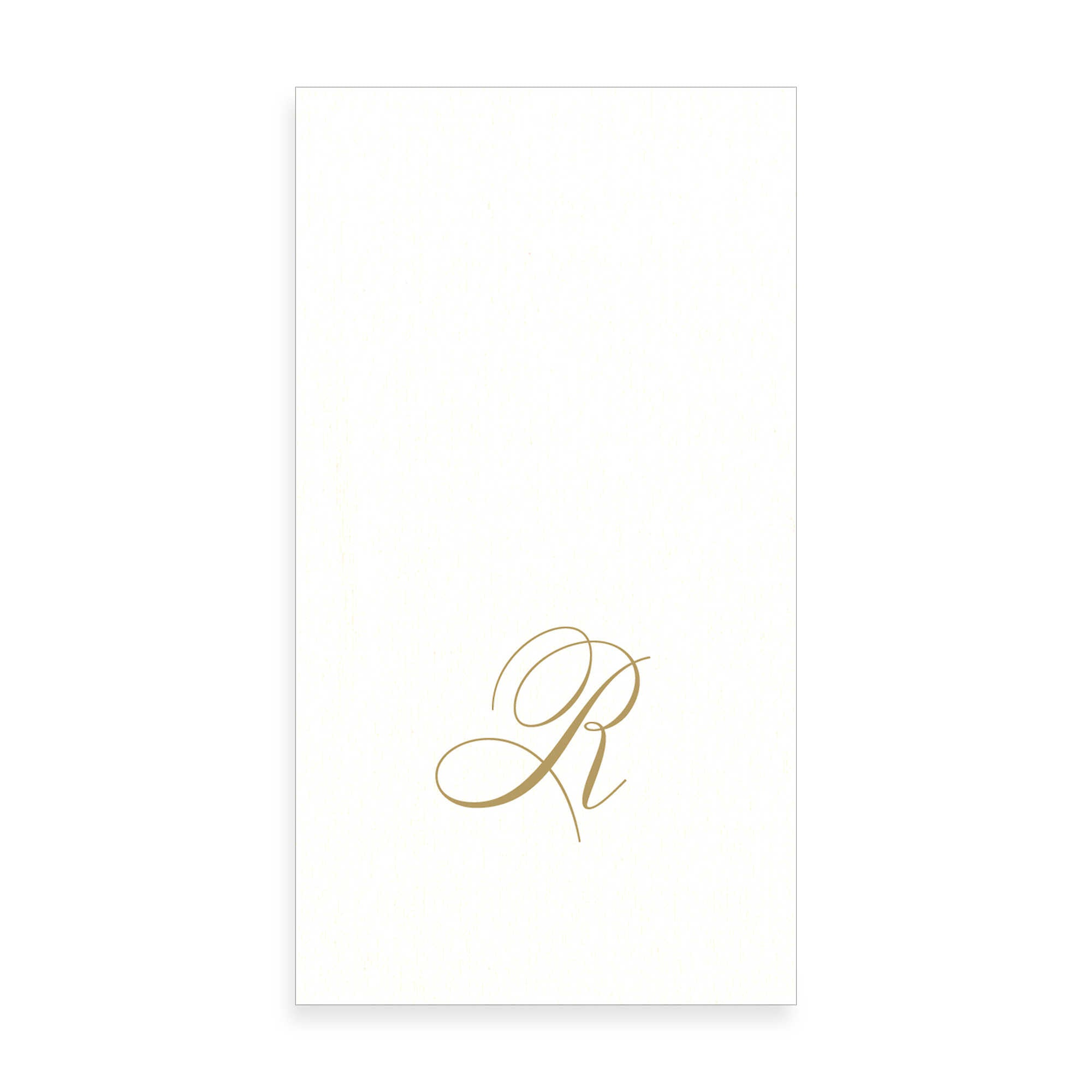 Gold Monogram Paper Guest Towel - Letter R, CI-Caspari, Putti Fine Furnishings