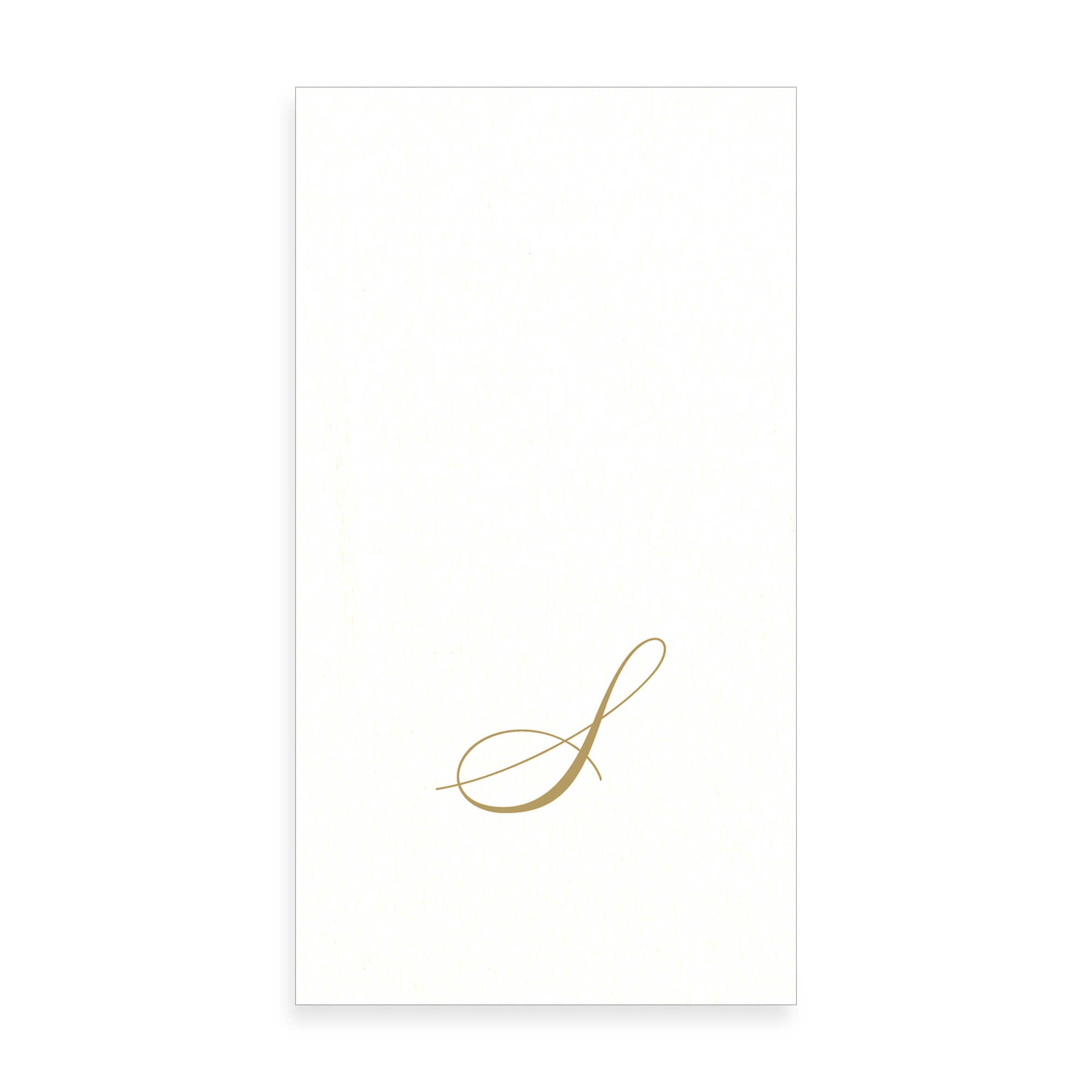 Gold Monogram Paper Guest Towel - Letter S, CI-Caspari, Putti Fine Furnishings