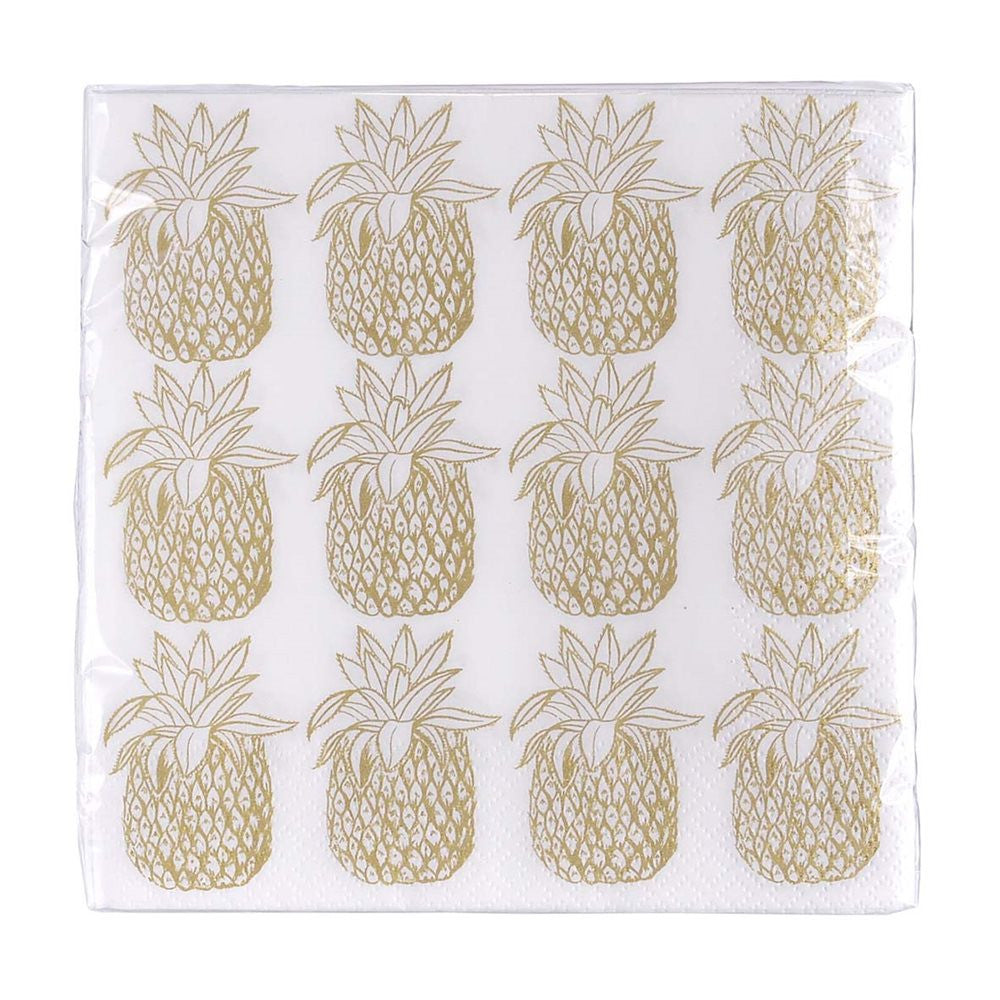 Gold Pineapple Napkins - Lunch, TT-Talking Tables, Putti Fine Furnishings