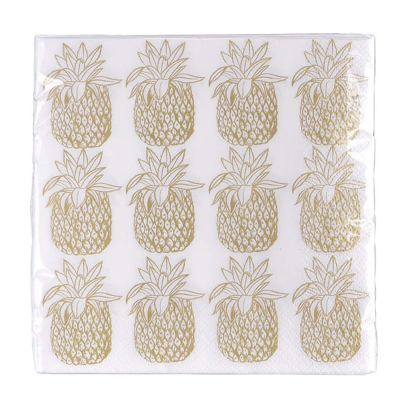 Gold Pineapple Napkins - Lunch