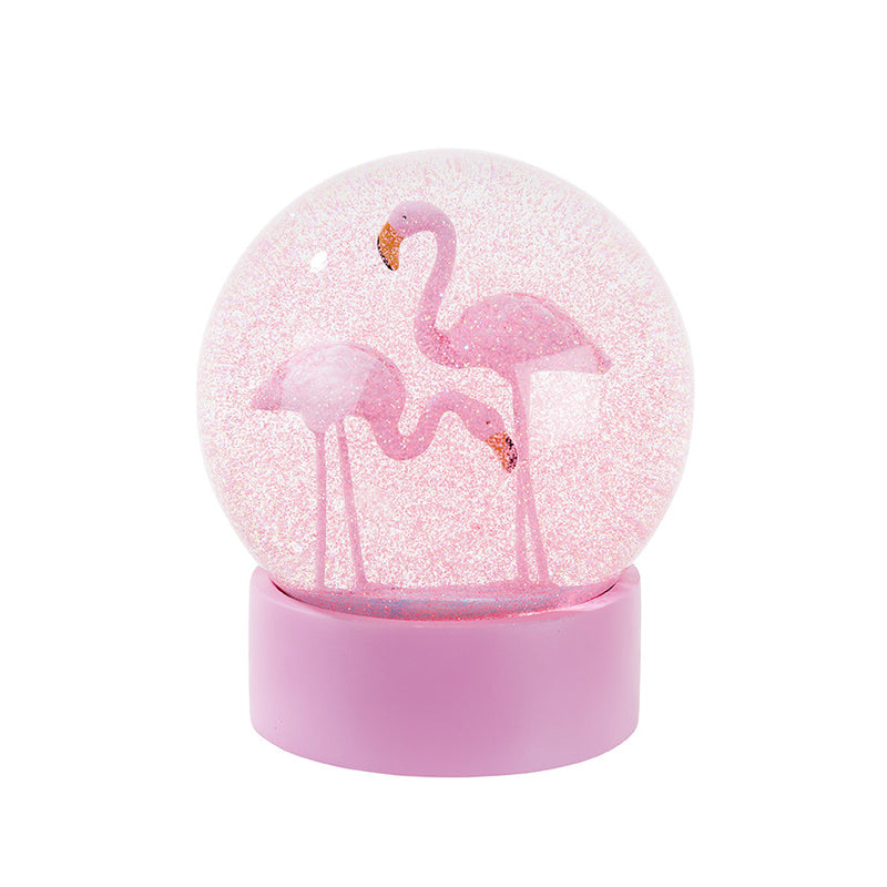 Flamingo Fun Snow Globe