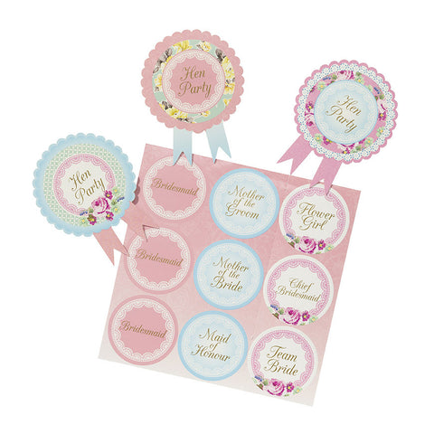 "Truly Hen Party ""Wedding Party"" Badges -  Party Supplies - Talking Tables - Putti Fine Furnishings Toronto Canada - 1"