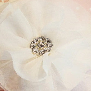 Miss Rose Sister Violet Flower Diamante Buttons