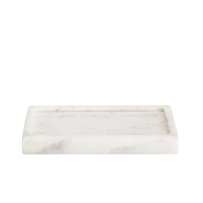 White Marble Soap Dish | Putti Fine Furnishings